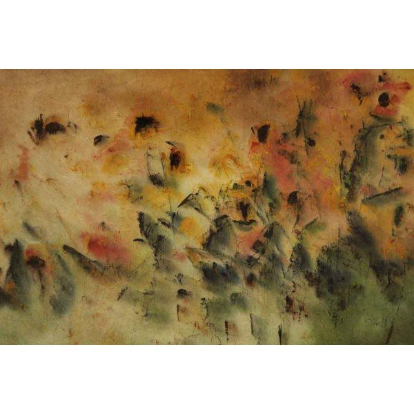 Contemporary Schlect Water Color Painting on Rice Paper For Sale - Image 3 of 7