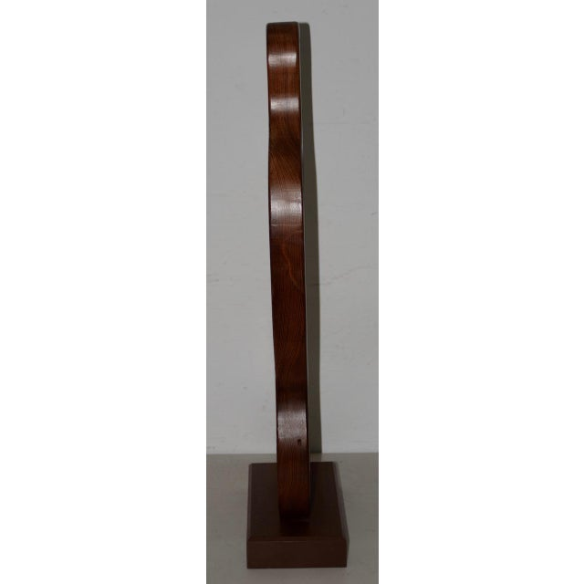 Abstract Marguerite Louis Blasingame Abstract Figure Wooden Sculpture C.1940s For Sale - Image 3 of 6