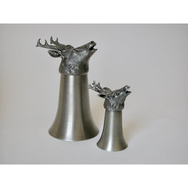 Stag Pewter Stirrup Cups - Set of 7 For Sale - Image 10 of 11