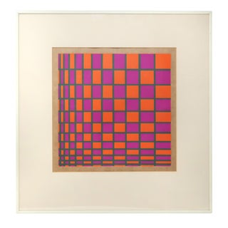 "Tanya Pfeffer ""Infinity"" Op Art Painting For Sale"