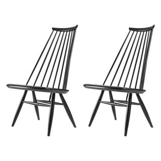 "Pair of ""Mademoiselle"" Lounge Chairs by Ilmari Tapiovaara for Asko For Sale"