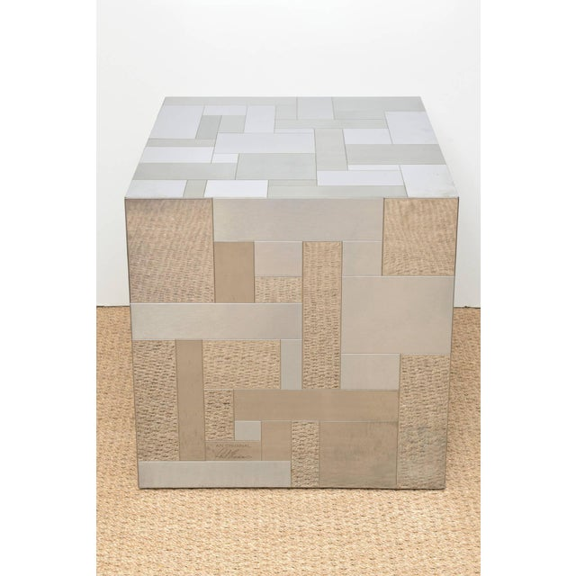 Signed Paul Evans Cityscape Side or End Sculptural Table For Sale In Miami - Image 6 of 10