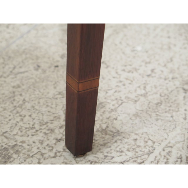 1990s Vintage Henkel Harris Mahogany Pembroke End Tables- A Pair For Sale - Image 9 of 12