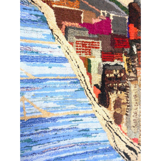 1960s Hand Woven Heinz Pittsburgh Pennsylvania Tapestry Fibre Art Wall Hanging For Sale - Image 10 of 12
