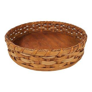 Late 20th Century Lazy Susan Basket For Sale