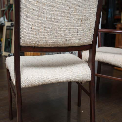 Set of Ten Skovby Rosewood Upholstered Dining Chairs For Sale In New York - Image 6 of 9