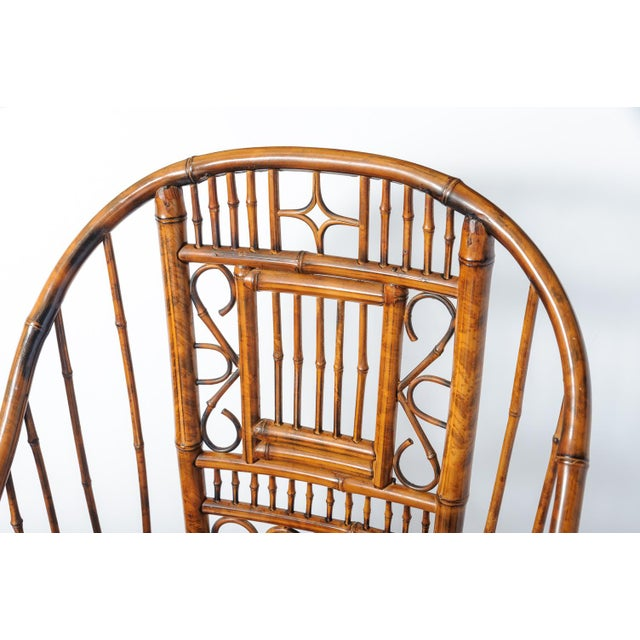 Vintage High Back Bamboo Caned Chairs- A Pair - Image 10 of 10