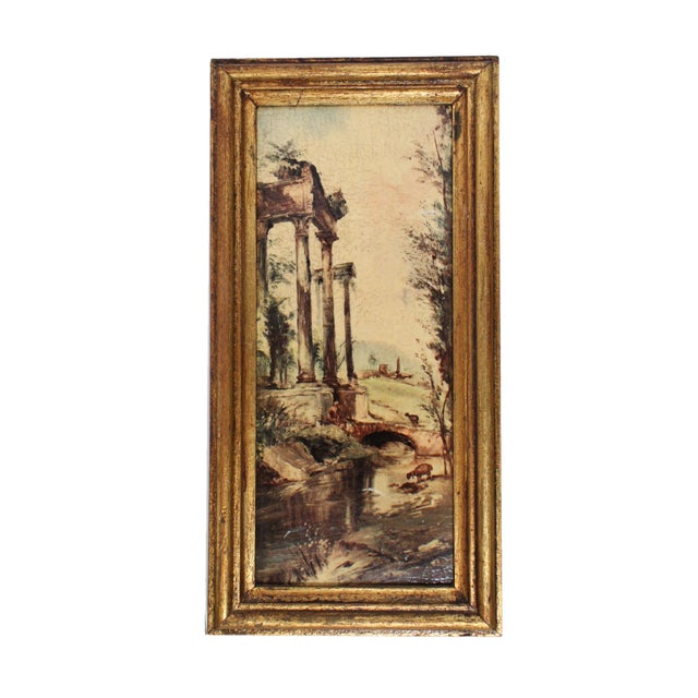 Wood Florentine Gilt Wood Wall Art Collection, Set of 7 For Sale - Image 7 of 13