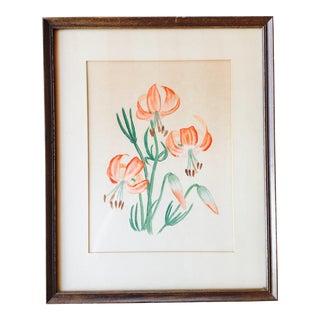 Original Floral Still Life Painting in Frame