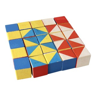 Playskool Color Cubes Toy Blocks Circa 1970