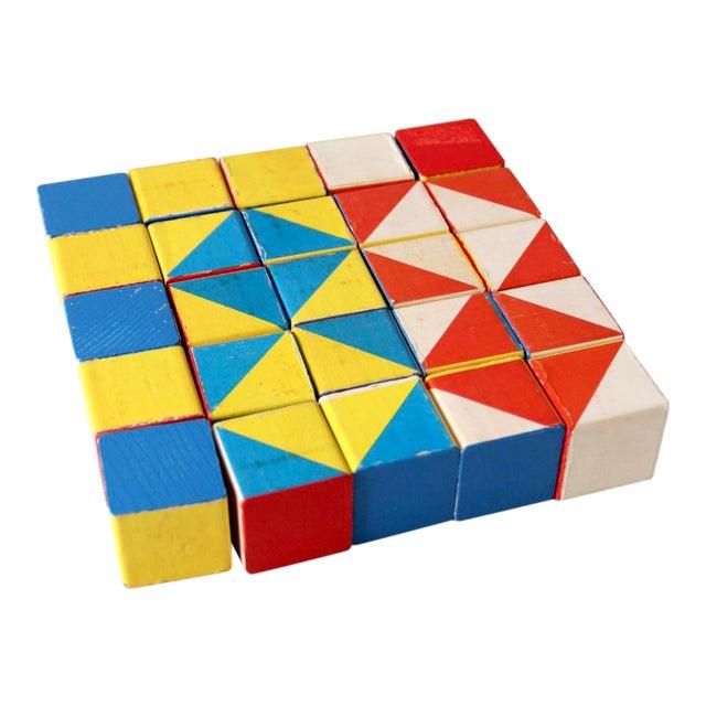 Playskool Color Cubes Toy Blocks Circa 1970 For Sale