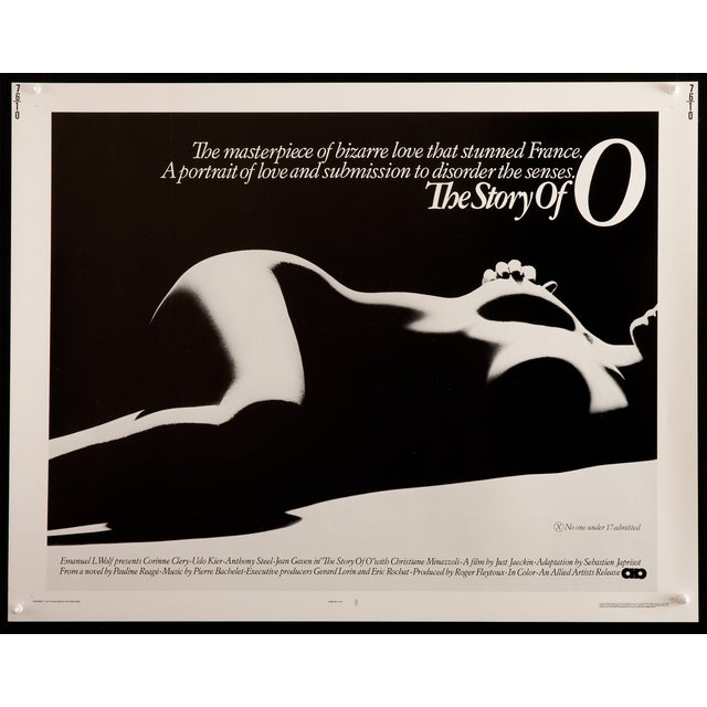 "Original, vintage U.S. poster for ""The Story of O"", a 1975 Franco-German drama directed by Just Jaeckin of ""Emmanuelle""...."