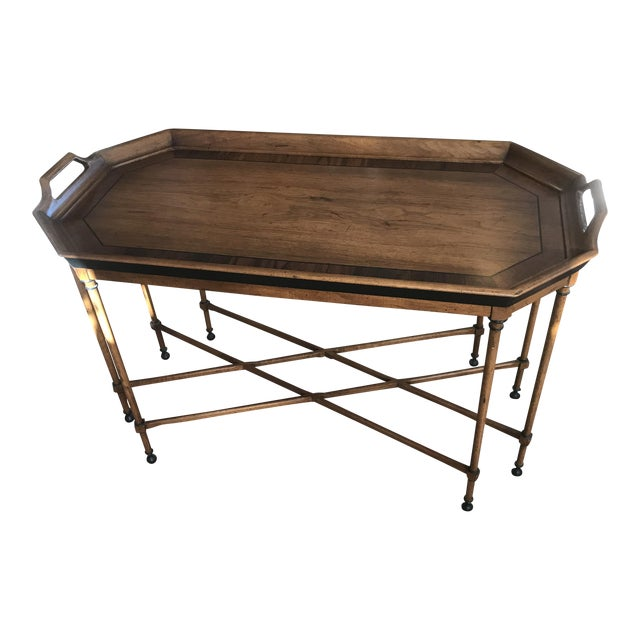 Tomlinson Walnut Mid-Century Tray Table For Sale