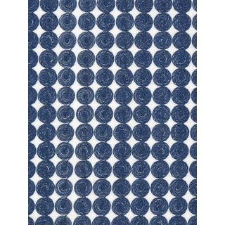 Sample, Scalamandre Labriz, Marine Fabric For Sale