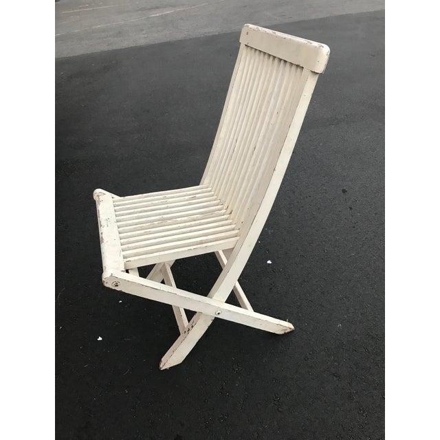 Late 19th Century Late 19th Century Antique Swedish White Chair For Sale - Image 5 of 6