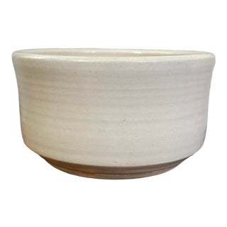 Late 20th Century Hand Thrown Signed Pottery Bowl For Sale