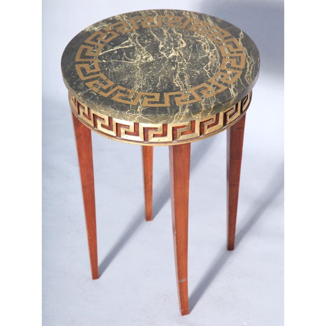Greek Key Carved Accent Table - Image 10 of 10