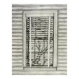 """1991 Preot Buxton """"Environment"""" Pencil Drawing For Sale"""