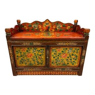 Antique Tibetan Altar Prayer/Coffee Table For Sale