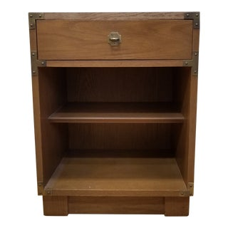 1960s Campaign Drexel Campaigner Nightstand For Sale