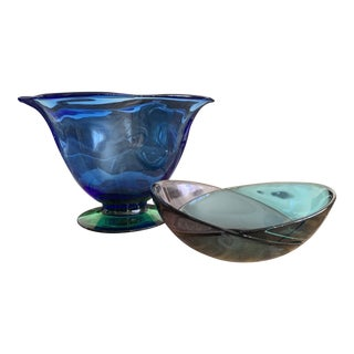 Orrefors Louise Bowl and Mingle Duo Bowl - a Pair For Sale