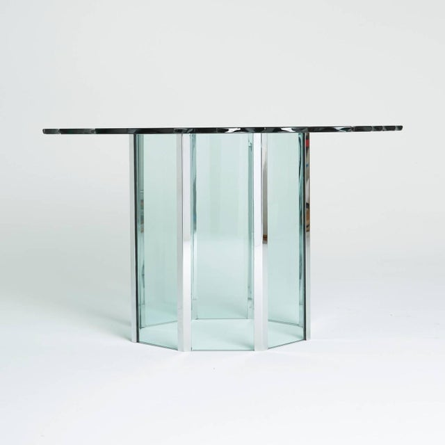 1970s Custom Glass and Chrome Table by Pace - Image 4 of 7