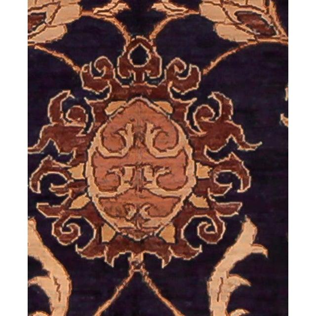 Kafkaz Peshawar Marianne Blue & Dark Gold Wool Rug - 10' x 14' For Sale - Image 4 of 7