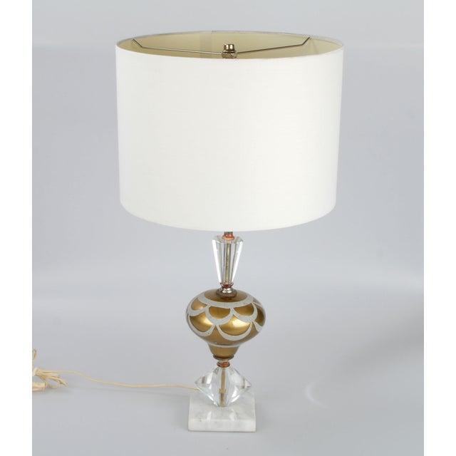 Italian Crystal & Marble Table Lamp - Image 3 of 10