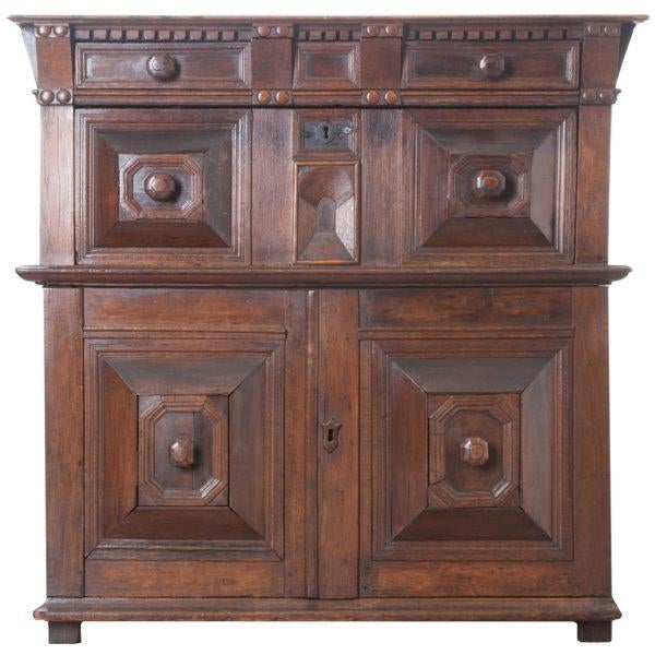 English 17th Century Charles II Oak Chest of Drawers For Sale - Image 13 of 13