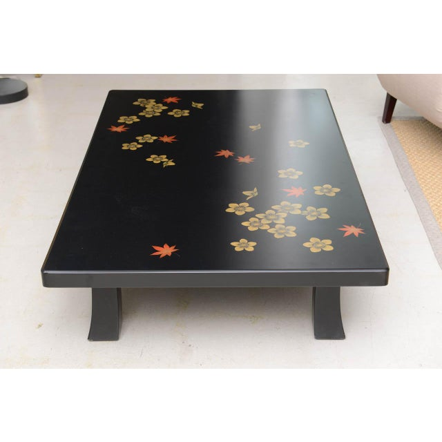 Asian Mid 20th Century Black Asian Style Coffee Table For Sale - Image 3 of 7
