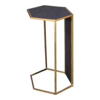 Art Deco Hexagonal Brass Side Table