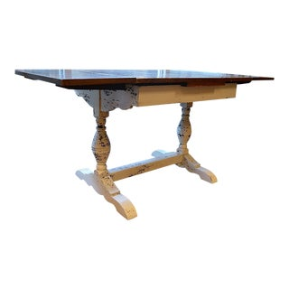 19th Century Shabby Chic Six-Seater Farmhouse Trestle Table For Sale