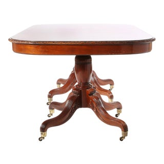 Early 20th Century Mahogany Wood Dining Table For Sale