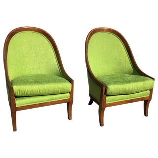 Dunbar Curved-Back Lounge Chairs - a Pair For Sale