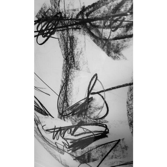 Original Abstract Charcoal Faces Drawing | Chairish