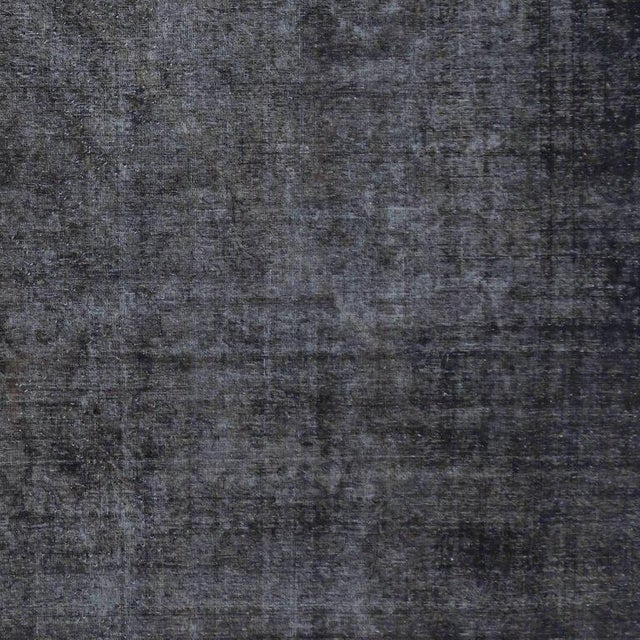 Blue Distressed Antique Persian Tabriz Rug with Modern Industrial Style For Sale - Image 8 of 9