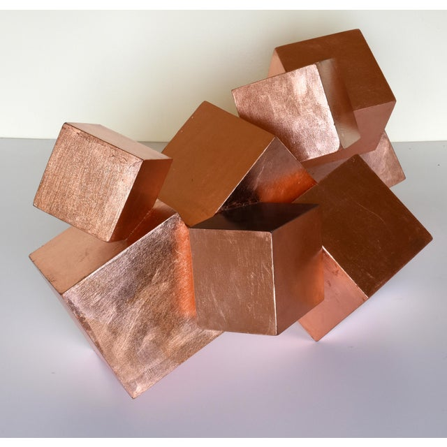 Copper and Mahogany Pyrite Sculpture For Sale - Image 12 of 13