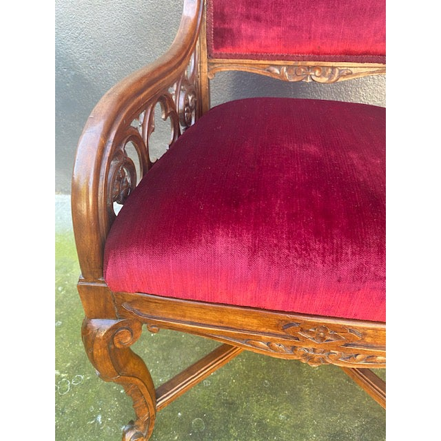 English 19th C. English Gothic Single Armchair For Sale - Image 3 of 13