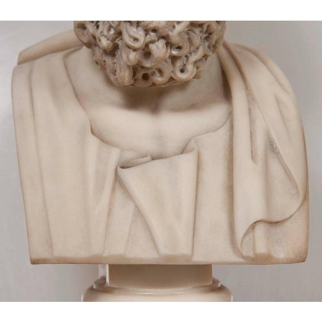 Marble Bust of Homer For Sale - Image 9 of 11