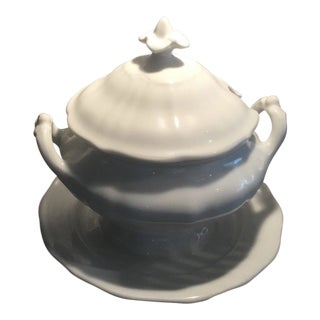 White Porcelain Soup Tureen Marked KPM For Sale