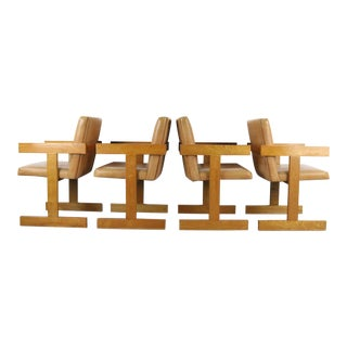 Set of 4 Dining Chairs in the Manner of Jens Risom For Sale