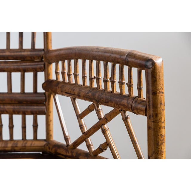 Thomasville Brighton Bamboo Barrel Chairs by Thomasville Old Label, , A-Pair For Sale - Image 4 of 12