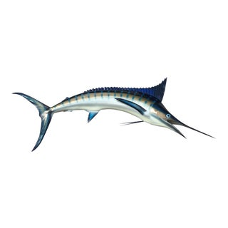 Early 21st Century Blue Marlin Half Mount Fish Replica For Sale