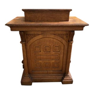 Antique Gothic Style Oak Church Lectern For Sale