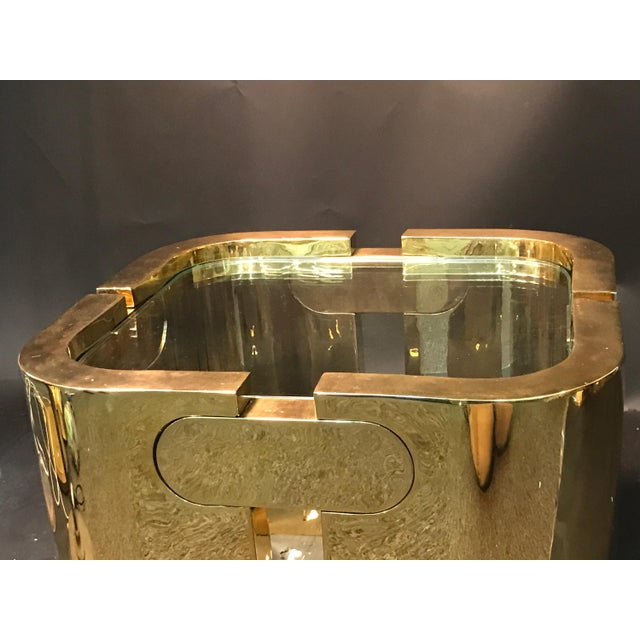 AMAZING GOLDEN BRONZE MODERNIST PUZZLE TABLE For Sale - Image 9 of 11
