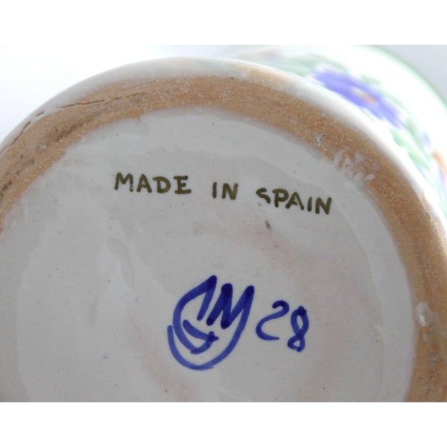 Spanish Apothecary Jar, Hand Painted & Signed For Sale In Los Angeles - Image 6 of 7