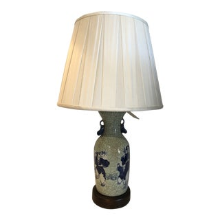 Chinese Export Blue and White Porcelain Vase Table Lamp For Sale