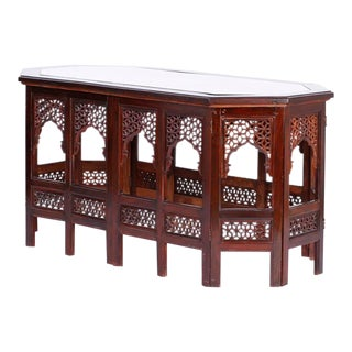Antique Anglo Indian Rosewood Coffee Table For Sale