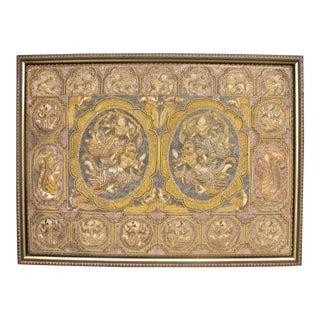 Vintage Burmese Kalaga Framed Tapestry For Sale