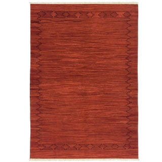 Rug & Relic Madder Root-Dyed Yeni Kilim Flaweave | 6'11 X 9'10 For Sale